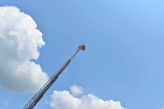 Ladder, Turntable Ladder, Head, Fire, Firefighting Job