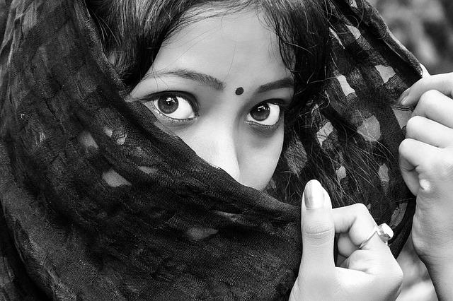 Black, Eyes, Girl, India, Indian, Lady, White