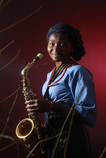 Lady, Sax, Musician, Female, Music, Saxophone