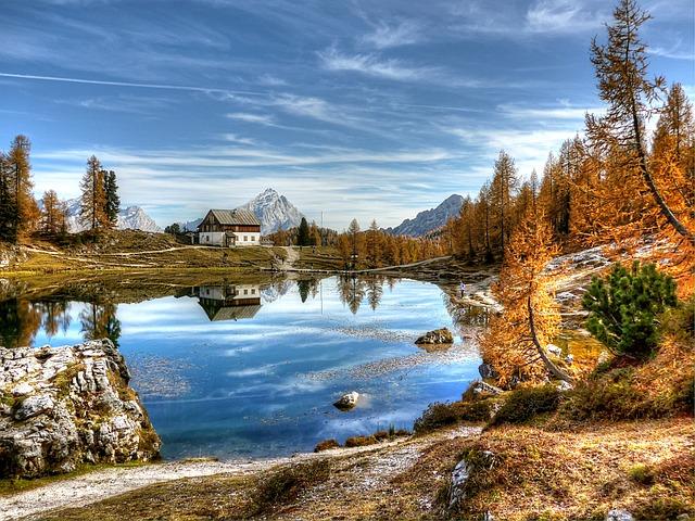 Lago Federa, Dolomites, Mountains, Lake, Italy, Alpine
