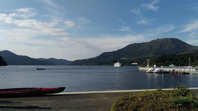 Lake, Ship, Lake Ashi, Kanagawa Japan