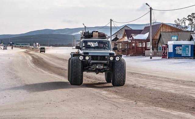 Siberia, Lake Baikal, All-terrain Vehicle, 4x4