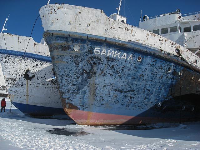 Irkutsk, Lake Baikal, Boats, Wreck
