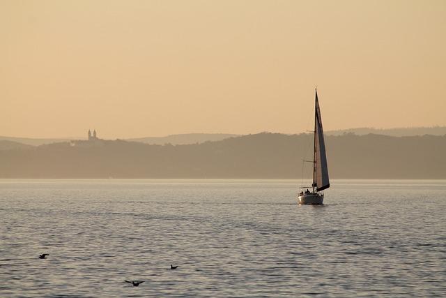 Water, Lake Balaton, Tihany, Ship