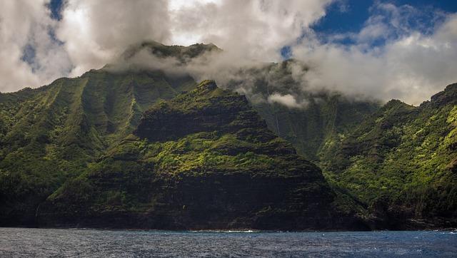 Hawaii, Beach, Daylight, Fog, Island, Lake, Landscape