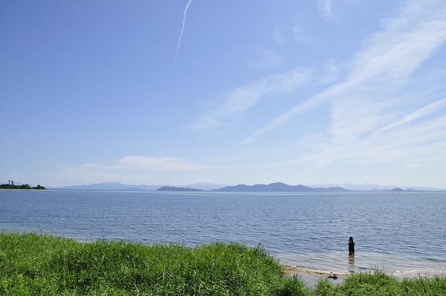 Lake Biwa, Lake Biwa In Shiga Station