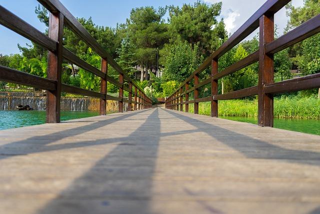 Bridge, Park, Lake, Nature, Brick, Forest, Water