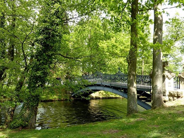 Bridge, Liebesinsel, Lake, Mirow, Lake Mirow
