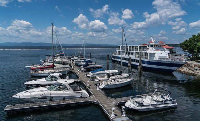 Lake Champlain, Burlington, Vermont, Waterfront, Water