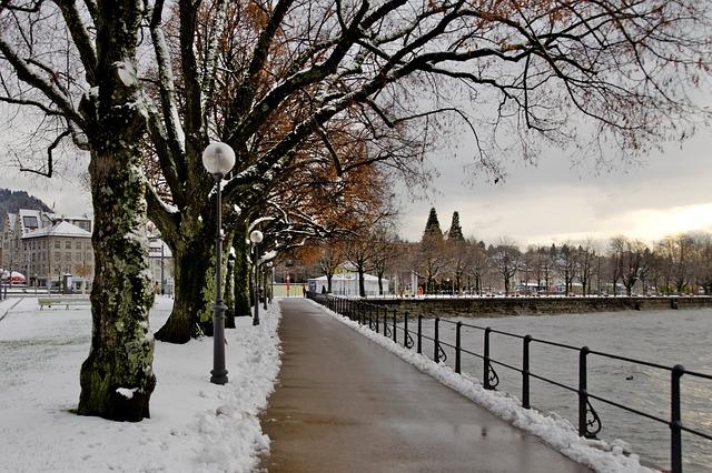 Lake Constance, Bregenz, Winter