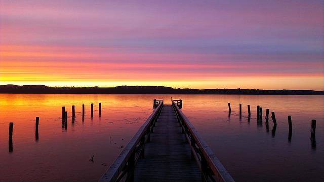 Waters, Sunset, Dawn, Pier, Lake, Web, Jetty, Boardwalk