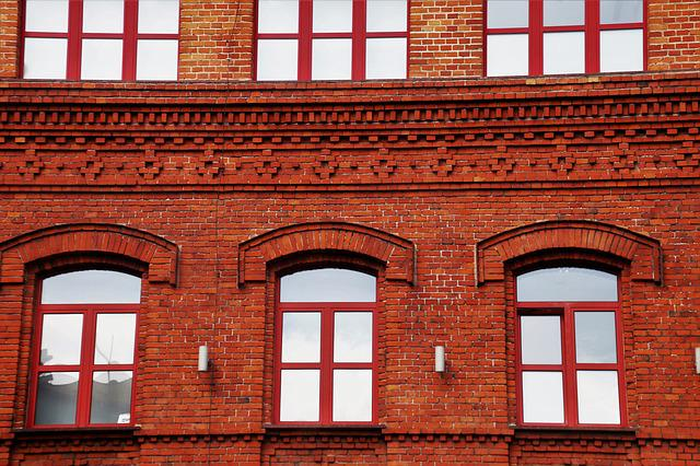 Brick, Kamienica, Lake Dusia, Architecture, Window