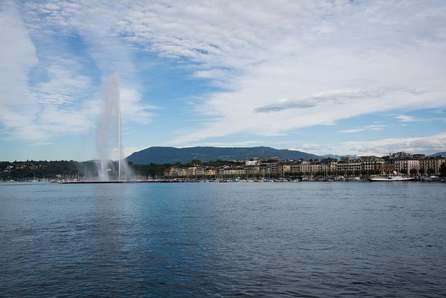 Geneva, Fountain, Places Of Interest, Lake Geneva