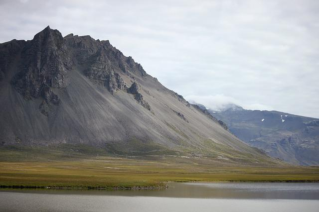 Iceland, Mountain, Lake, Reflection, Showers