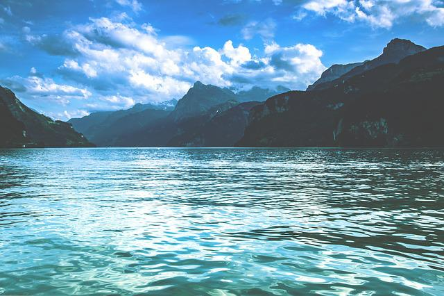 Lake, Mountains, Switzerland, Landscape, Nature
