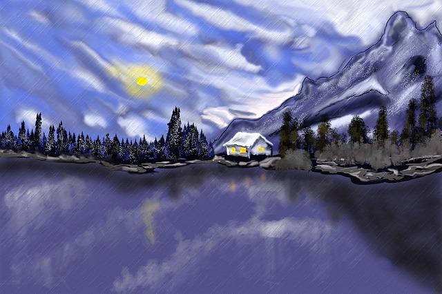 Winter, Lake, Wintry, Frozen, Landscape, Water
