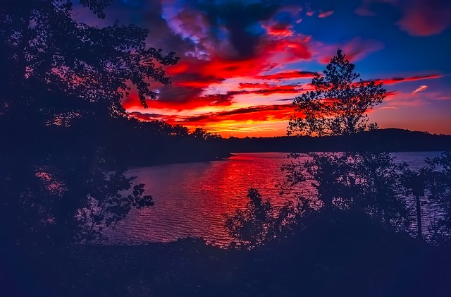Lake Lanier, Georgia, Sunset, Dusk, Beautiful, Sky