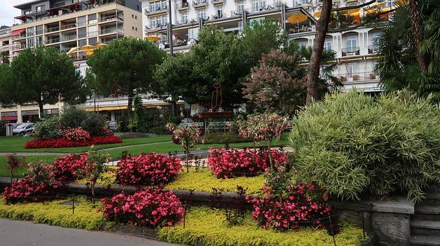 Garden, Lake Leman, Montreux, Suisse