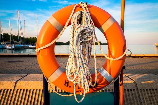 Lifebelt, Lake, Sunset, Buoy, Life, Lifebuoy, Water