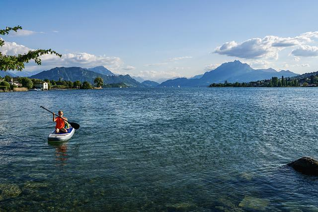 Panoramic Views, Lake Lucerne Region, Water, Landscape