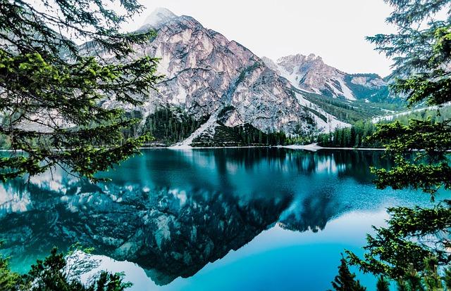 Lake, Mountain Lake, Mirroring, Water, Nature, Bergsee