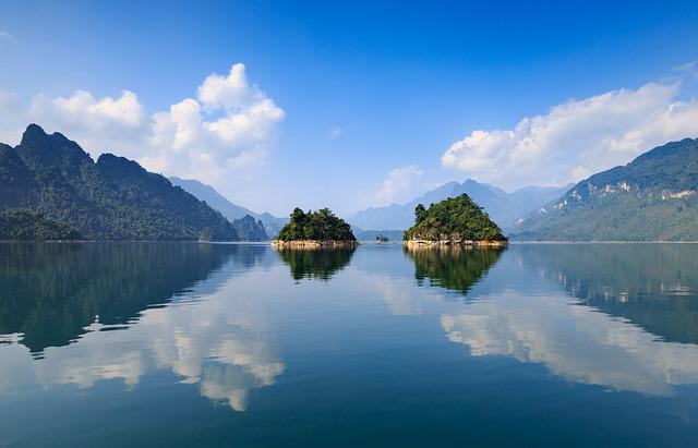 Water, Nature, Reflection, Mountain, Lake, Viet Nam