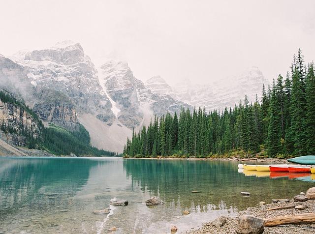 Lake, Landscape, Mountains, Mountain Peaks