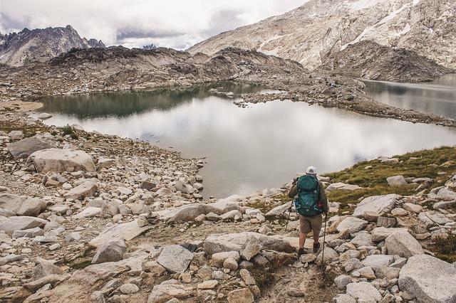 Tundra, Backpacker, Hiking, Mountains, Lake, Alpine