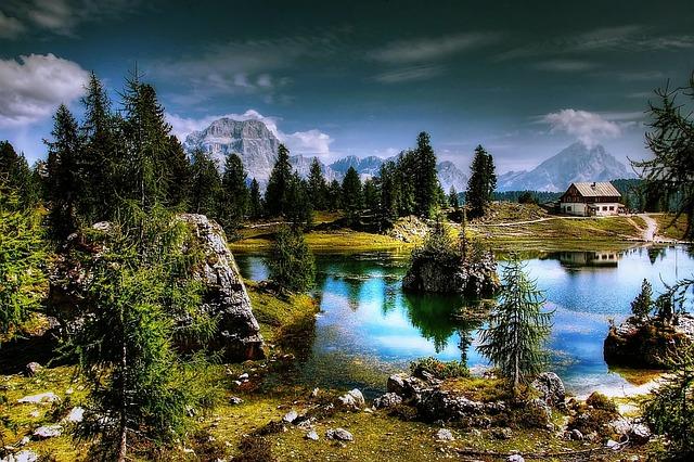 Lago Federa, Dolomites, Lake, Mountains, Landscape