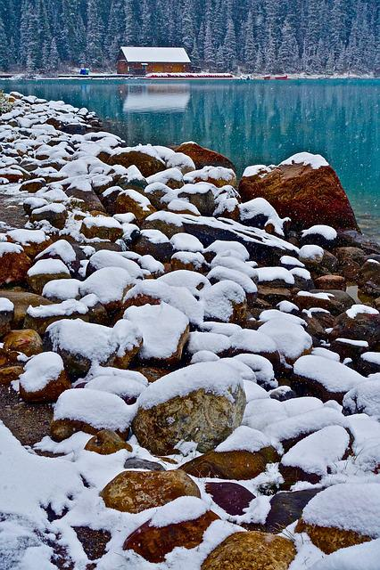 Cabin, Lake, Rocks, Snake, Nature, Landscape, Rustic
