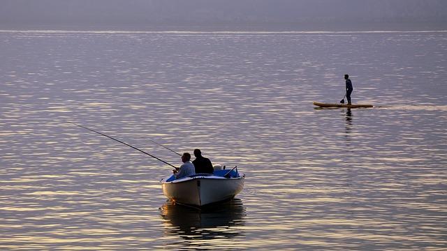Fishermen, Boat, Lake, Tranquility, Peace