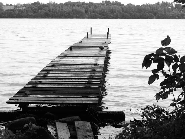 Platform, Lake, Landscape, Water, Jetty