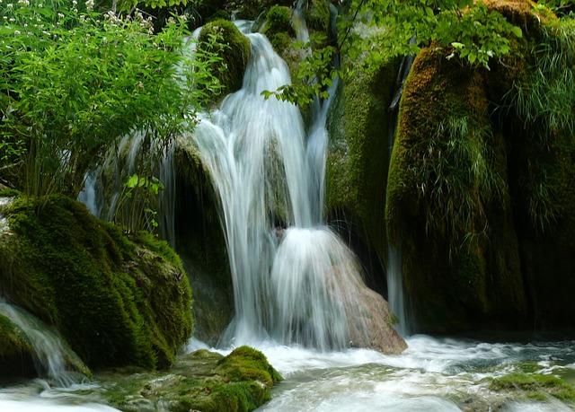 Croatia, Lake, Waterfall, Nature, Plitvice, Zieloeń
