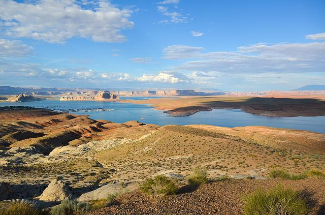 Usa, America, Lake Powell, Wahweap Overlook, Arizona