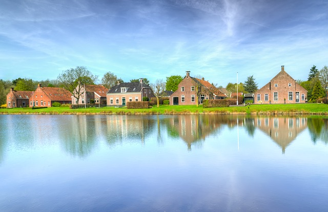 Water, River, Reflection, Lake, Architecture, House
