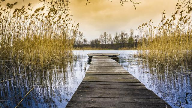 Landscape, Water, River, Sky, Lake, Silence
