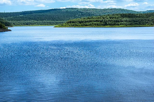 Lake, Dam, Reservoir, Water, Water Surface, Ruffled