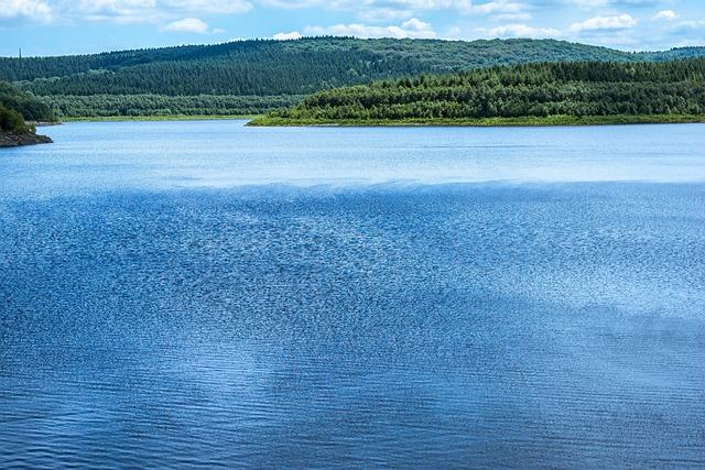 Lake, Dam, Reservoir, Water, Water Surface, Ruffled
