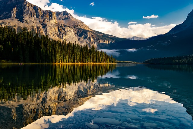 Canada, Lake, Reflections, Mountains, Landscape, Scenic
