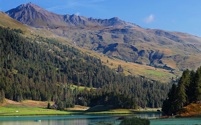Lake Silvaplana, Silvaplana, Engadin, Switzerland