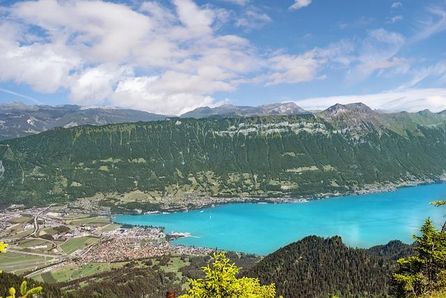 Landscape, Lake, Mountains, Sky, Interlaken