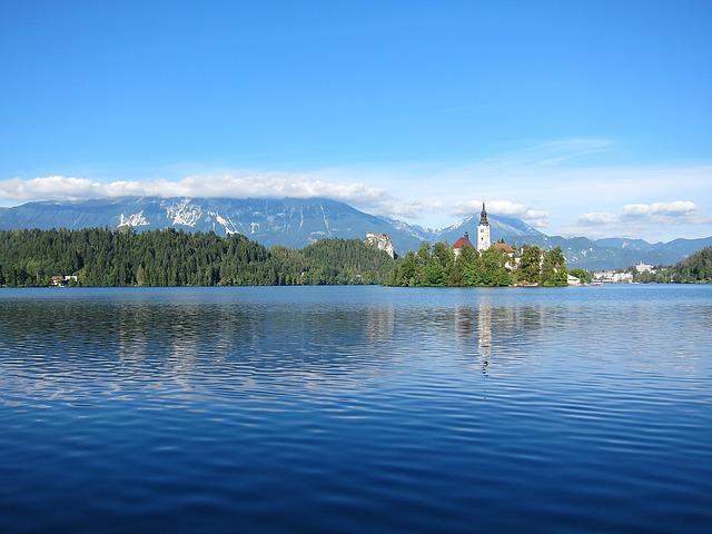 Lake Bled, Slovenia, Landscape, Mountains, Lake