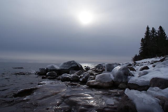 Lake Superior, Superior, Great Lakes, Ice, Winter