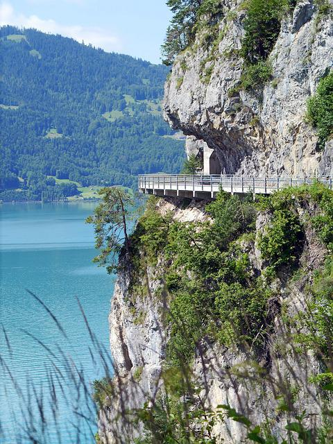 Lake Thun, Northern Road, Rock, Gallery, Tunnel