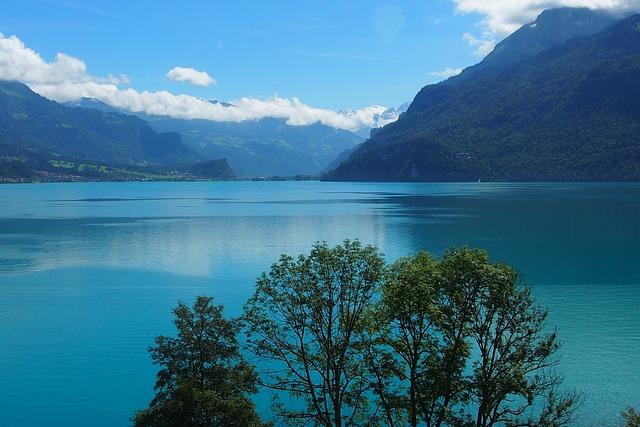 Lake, Mountains, Lake Thun, Mood, Switzerland