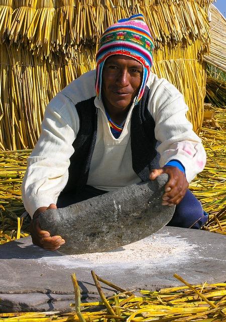 Peru, Lake Titicaca, Male