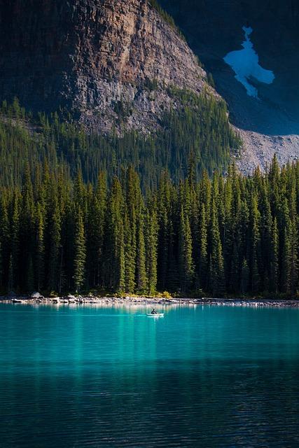 Nature, Trees, Lake, Banff, Alberta, Canada, Landscape