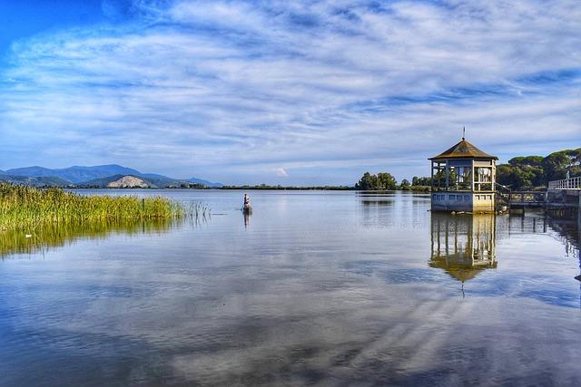 Lake, Viareggio, Torre Del Lago, Reflection, Landscape
