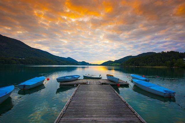 Lake View, Sunset, Fu Shi Lake, Austria