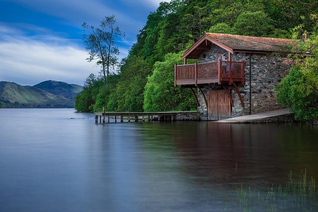 Lake, Cottage, Jetty, Dock, Water, Water Reflection